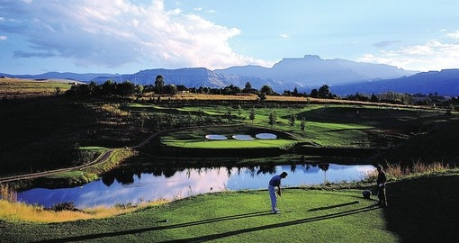 Tee off at One of many beautiful Golf Courses on your South Africa vacation