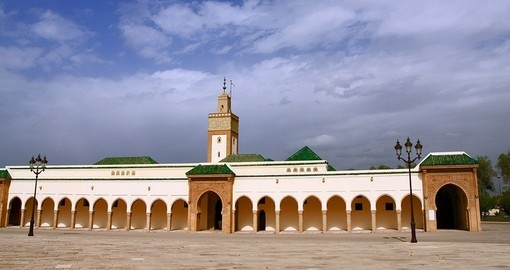 The Royal Palace is a popular tourist spot on Rabat tours.