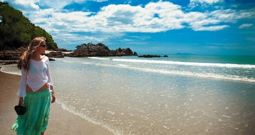 Stroll along the clean beaches of the Bay of Plenty during your New Zealand Tours.