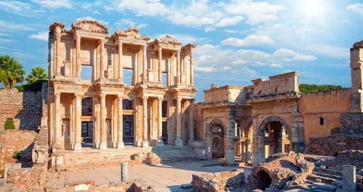 Considered an architectural marvel, the Celsus Library in Ephesus was commissioned in 110 AD