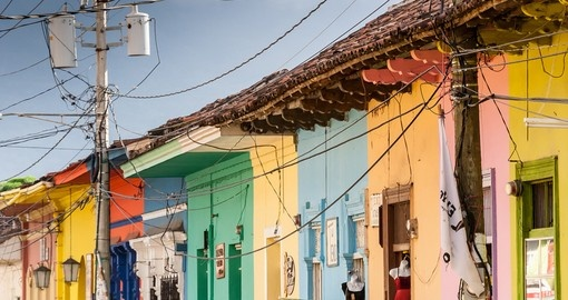 Colorful houses in central Granada