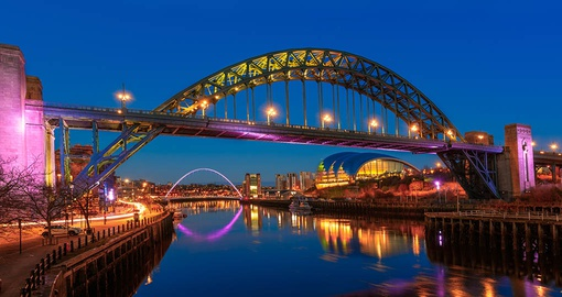 Stroll on the Tyne bridge on your trip to Newcastle