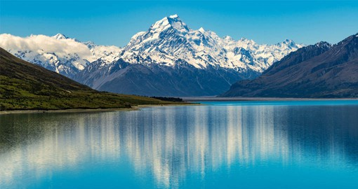Mount Cook National Park is home of the highest mountains and the longest glaciers
