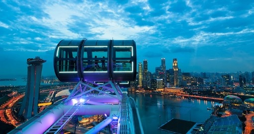 On top of the Singapore Flyer