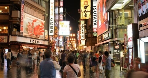 Osaka's entertainment and nightlife district