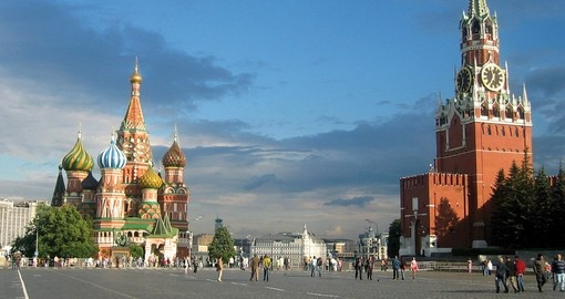 Take a city tour in Moscow and see the Red Square during your Russia vacation.