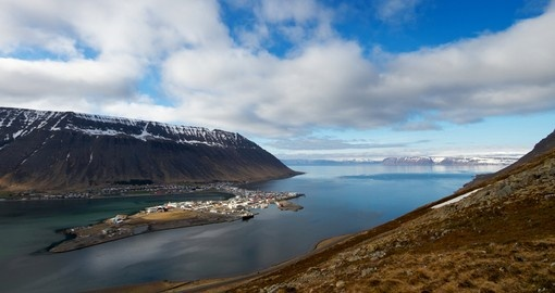 This is the city of Isafjordur on the Wesfjords peninsula