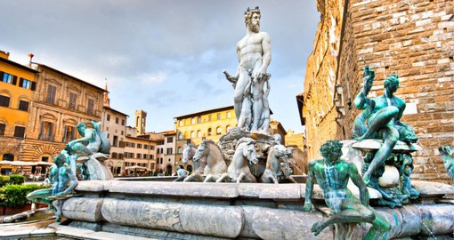 Fountain of Neptune in front of the Palazzo Vecchio