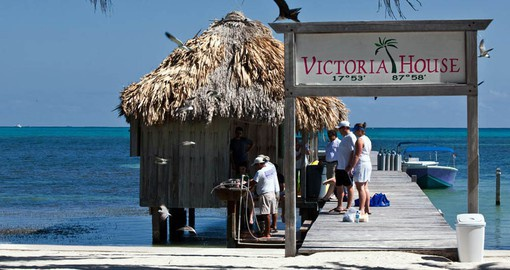 If diving is part of your trip to Belize, the Victoria House has a full stocked shop