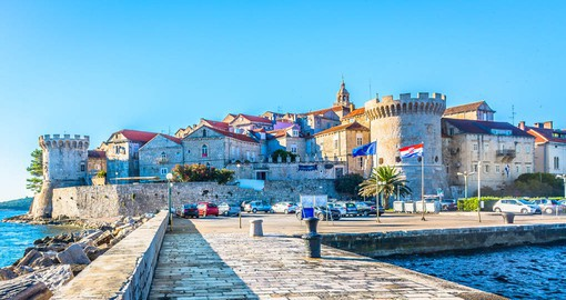 "Korcula Town is called ""Little Dubrovnik"" because of its medieval squares, churches, palaces and houses"
