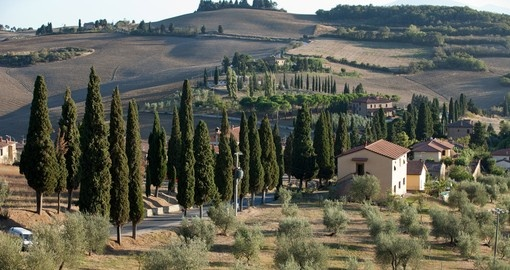 The landscape of Tuscany