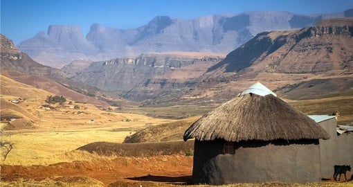 Zulu Rondavel in the Drakensberg