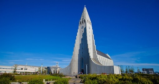 Visit Hallgrimskirkja Cathedral in Reykjavik on your next Iceland vacations.