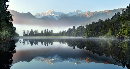 Reflection of Lake Matheson - South Island