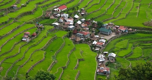 The World Heritage Rice Terraces in Batad are included as part of most clients Philippines vacation.
