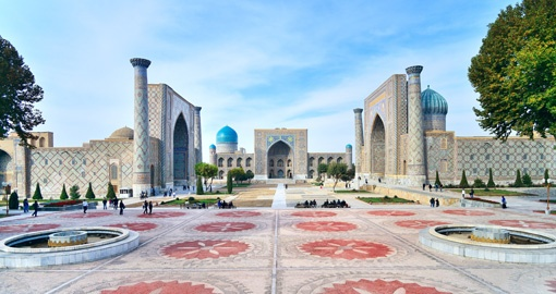 Shah-i-zinda, Registan square. Unesco world heritage