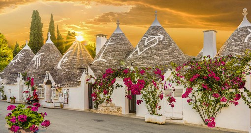 There are more than 1,500 Trulli houses in Alberobello some of which date from the 14th century