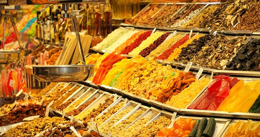 Enjoy the sights and smell of La Bocqueria on your Spain vacation