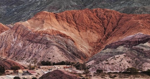 Visit the the Hill of Seven Colours in Purmamarca during your trip to Argentina