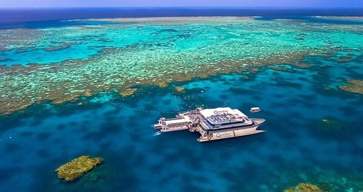 The Great Barrier Reef, one of the natural wonders of the world