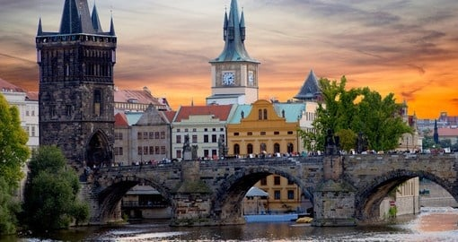 Charles Bridge in Prague - always a popular photo opportunity on Czech Republic tours.