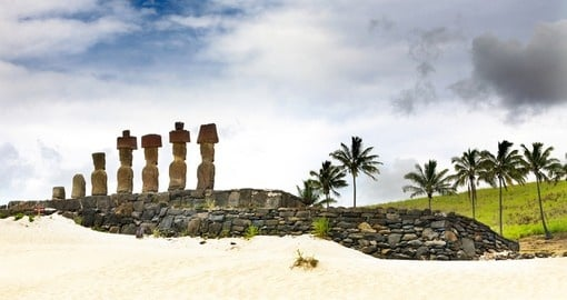 Stroll unspoiled beaches on Easter Island on your Chile Vacation