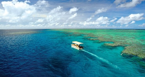 Enjoy all the amenities of the glass bottom boat on your next Australia vacations.