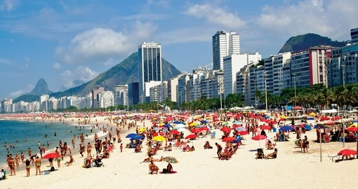 Copacabana, one of the most famous beaches in the world