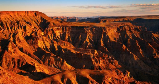 The immensity of this magnificent landscape of the Fish River Canyon, the second largest in the world