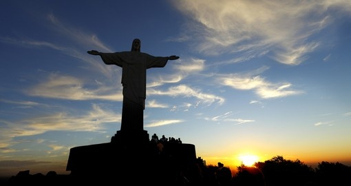 Famous Christ the Redeemer in Rio de Janeiro during your next trip to Brazil.
