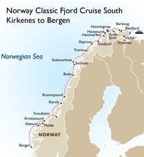 Norway Classic Fjord Cruise South: Kirkenes to Bergen