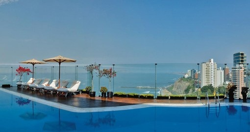 Enjoy all the amenities of Miraflores Park Hotel on your next Peruvian vacations.