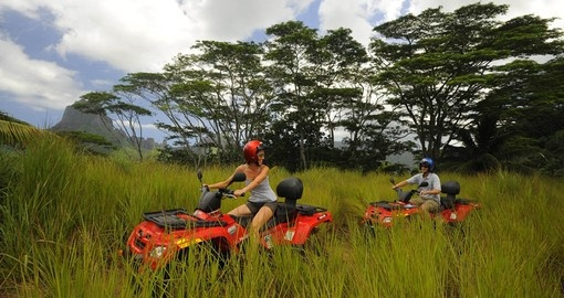 ATV tours are popular on Tahiti and Moorea