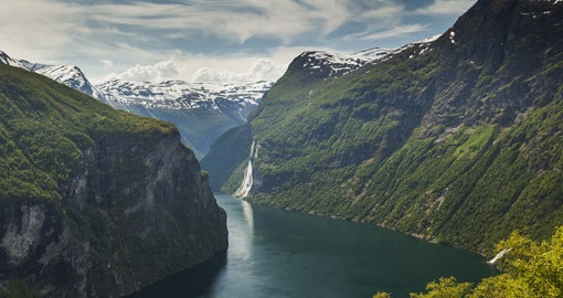Seven Sisters waterfall, Geiranger fjord, Norway