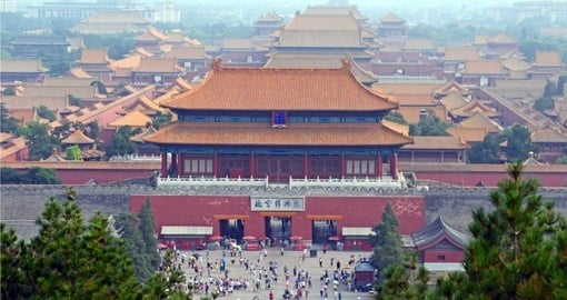 Begin your China Vacation with a full day visit to The Forbidden City and Tiananmen Square