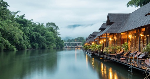 Enjoy all the amenities of The Float House River Kwai during your next trip to Thailand