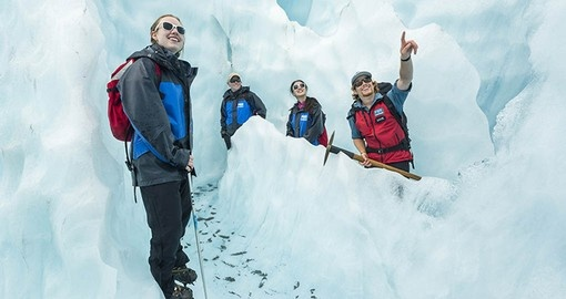 Enjoy a hike on the Fox Glacier during your New Zealand Vacation