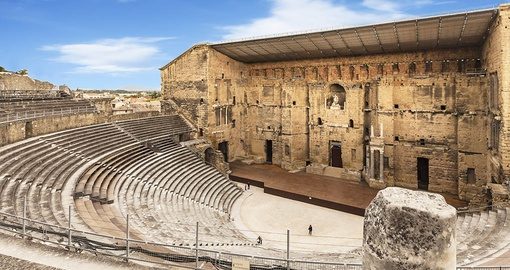 Orange Amphitheatre was built by the Romans in the 1st century AD