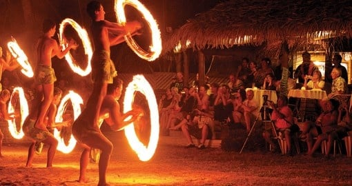 Traditional island night life in Rarotonga