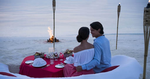 Experience a tailor made private dining experience for you and your significant other on your Maldives Vacation