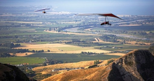 Experience birds Eye View of Hawke's Bay during your next New Zealand tours.