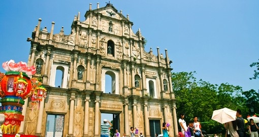 Ruins of Saint Pauls Cathedral in Macau