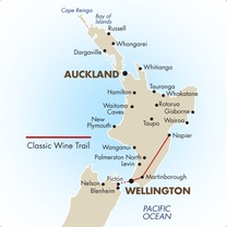 Classic Wine Trail Self Drive Map