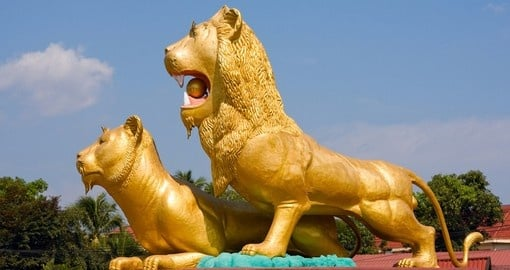 Statue of a lion in Sihanoukville