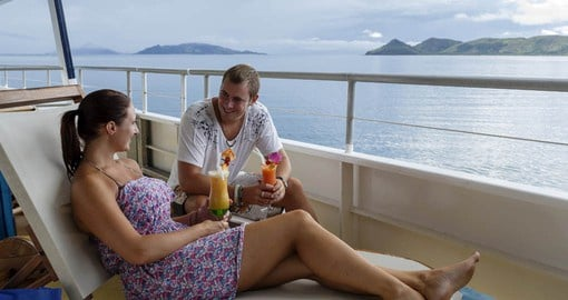 Enjoying the Fijian lifestyle aboard your Blue Lagoon Cruise