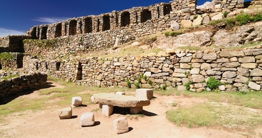 Inca prehistoric ruins on the Isla del Sol