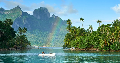 Paddling in paradise