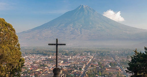 Take in  the Vista of Antigua on your Guatemala Tour