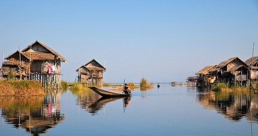 Floating village on Inle Lake