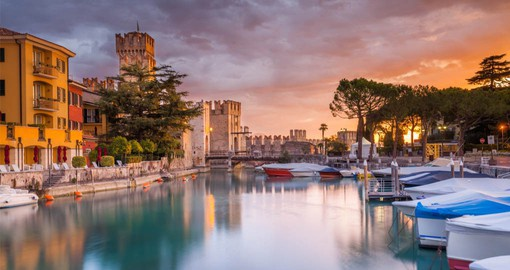 Lake Garda's prettiest village Sirmione is built on a picturesque peninsula